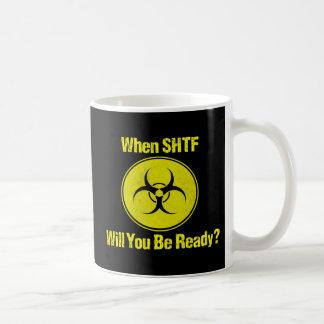 Ready When SHTF Design Prepper Mugs