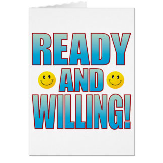 Ready Willing Life B Card