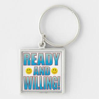 Ready Willing Life B Keychain