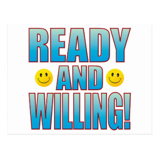 Ready Willing Life B Postcard