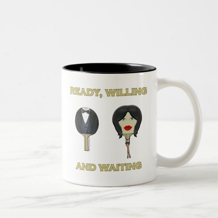 Ready Willing Ping Pong Two-Tone Coffee Mug