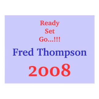 ReadySet Go...!!!, Fred Thompson, 2008 Postcard