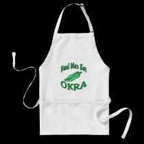 Reael Men Eat Okra aprons