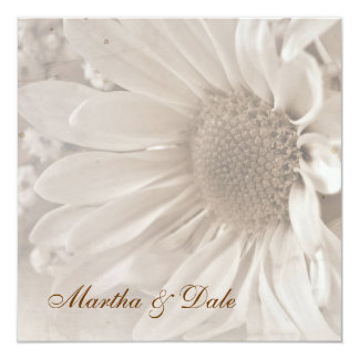 "Reaffirmation of Vows daisy invitation 5.25"" Square Invitation Card"