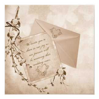 """Reaffirmation Of Vows 5.25"""" Square Invitation Card"""