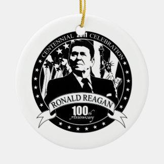 Reagan 100th Anniversary Ceramic Ornament