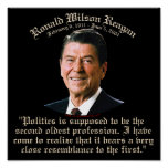 Reagan 2nd Oldest Profession Poster