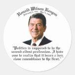 Reagan 2nd Oldest Profession Round Stickers
