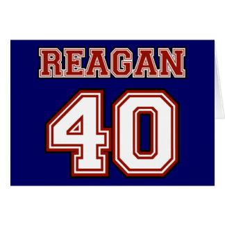 Reagan # 40 card