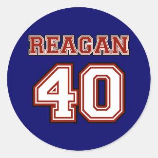 Reagan # 40 classic round sticker