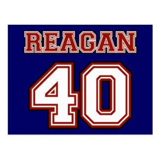 Reagan # 40 postcard