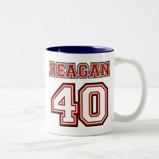 Reagan # 40 Two-Tone coffee mug