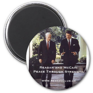 Reagan and McCain 2 Inch Round Magnet
