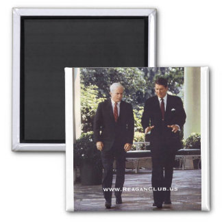 Reagan and McCain - Customized 2 Inch Square Magnet