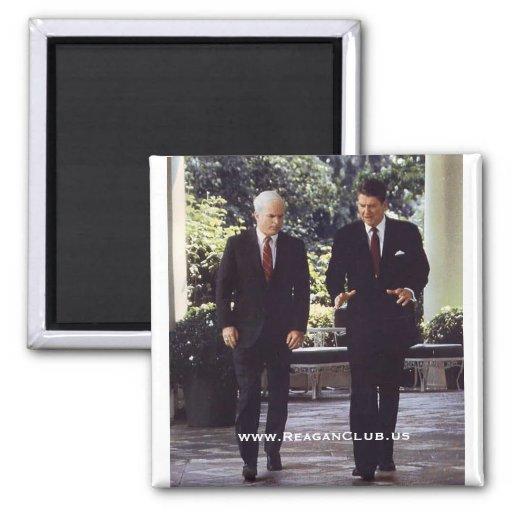 Reagan and McCain - Customized Fridge Magnets