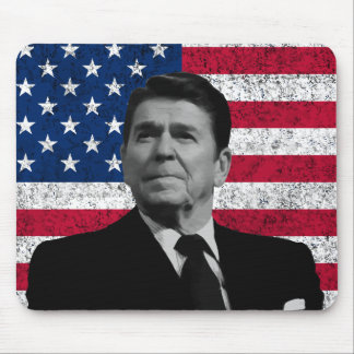 Reagan and The American Flag Mouse Pad