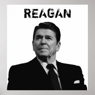 Reagan -- Black and White Poster