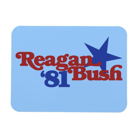 Reagan Bush 1981 Magnet