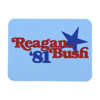 Reagan Bush 1981 Rectangular Photo Magnet
