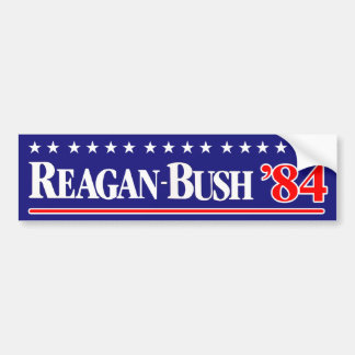 Reagan Bush 1984 Pegatina Para Coche