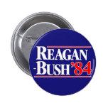 Reagan Bush 1984 Chapa Redonda 5 Cm