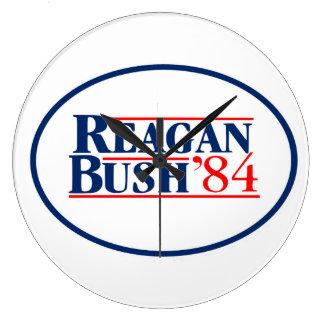 Reagan Bush 1984 Election President White House Large Clock