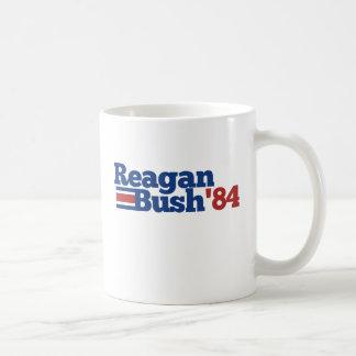 Reagan Bush 1984 Classic White Coffee Mug