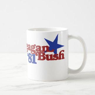 Reagan Bush 81 Classic White Coffee Mug