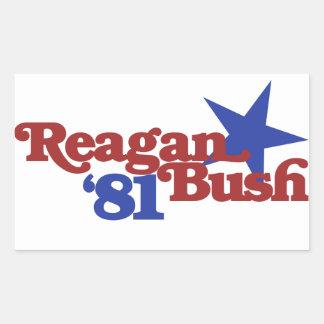 Reagan Bush 81 Rectangular Sticker