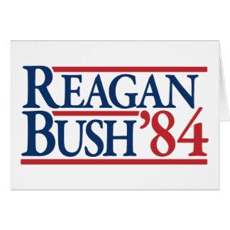 Reagan Bush 84 1984 vintage retro campaign Card