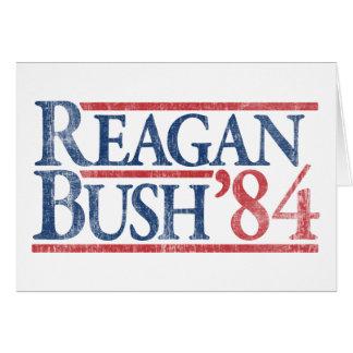 Reagan Bush 84 1984 vintage retro campaign Greeting Cards