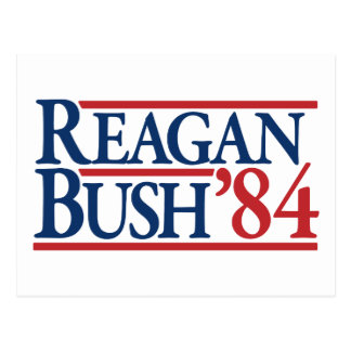 Reagan Bush 84 1984 vintage retro campaign Post Card