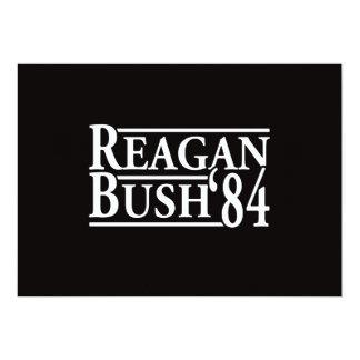 Reagan Bush '84 5x7 Paper Invitation Card