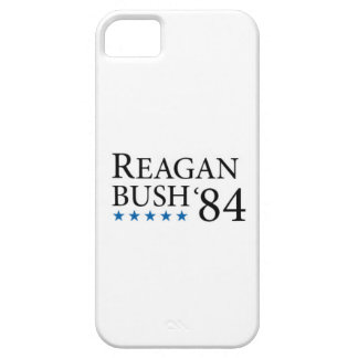 Reagan Bush 84 black on white 1 iPhone SE/5/5s Case