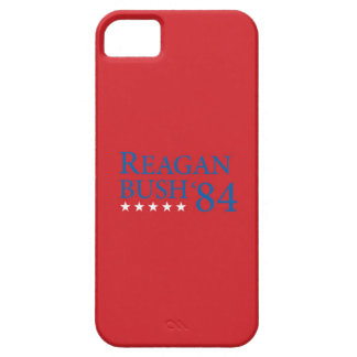 Reagan Bush 84 Blue on Red 1 iPhone 5 Cases