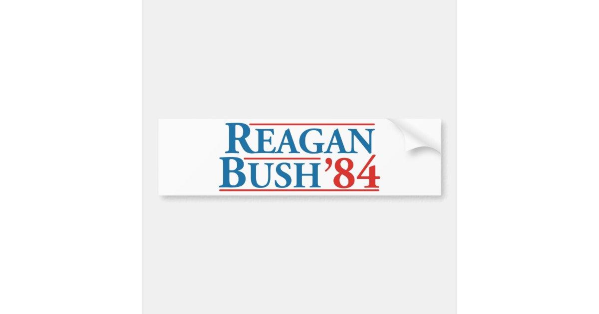 Reagan Bush 84 Bumper Sticker Zazzle Com