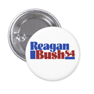 Reagan Bush 84` Pinback Button