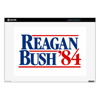 "Reagan Bush '84 Campaign Decals For 15"" Laptops"