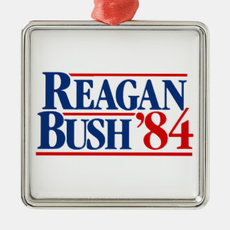Reagan Bush '84 Campaign Metal Ornament
