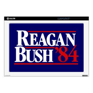 "Reagan Bush '84 Campaign Decal For 17"" Laptop"