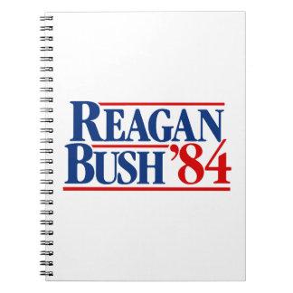 Reagan Bush '84 Campaign Spiral Notebook