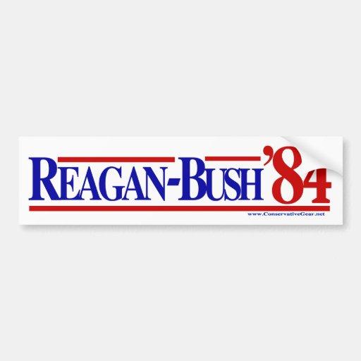 Reagan Bush 84 Car Bumper Sticker