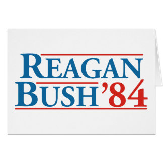 Reagan Bush '84 Card