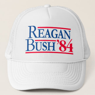 Reagan Bush '84 Election Fratty Republican Trucker Hat