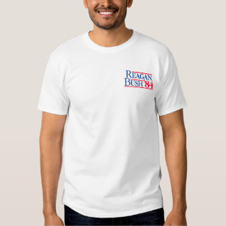 Reagan Bush '84 Fratty Front Pocket Republican T-Shirt