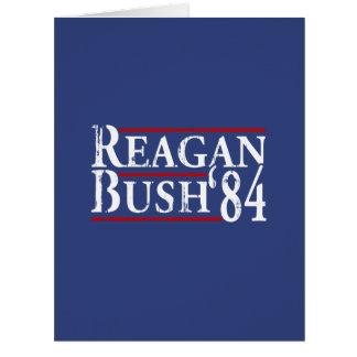Reagan Bush '84 Large Greeting Card