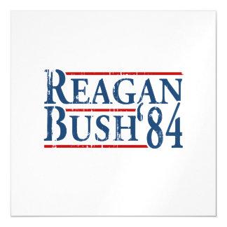 Reagan Bush '84 Magnetic Invitations