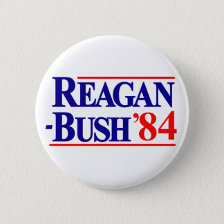 Reagan Bush 84 Pinback Button