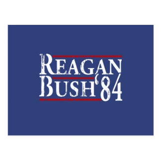 Reagan Bush '84 Postcard