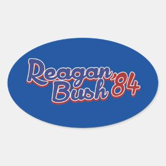 Reagan Bush 84 Oval Sticker